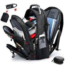 """SIXRAYS Швейцарский Многофункциональный 15,"""" рюкзак для ноутбука чехол-сумка водонепроницаемый USB порт для зарядки школьный рюкзак походная дорожная сумка"""