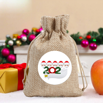 Creative Santa Claus Christmas Gift Bag Christmas Decoration Gift Hemp Rope Candy Bag Small Object Storage Bag Organizer image