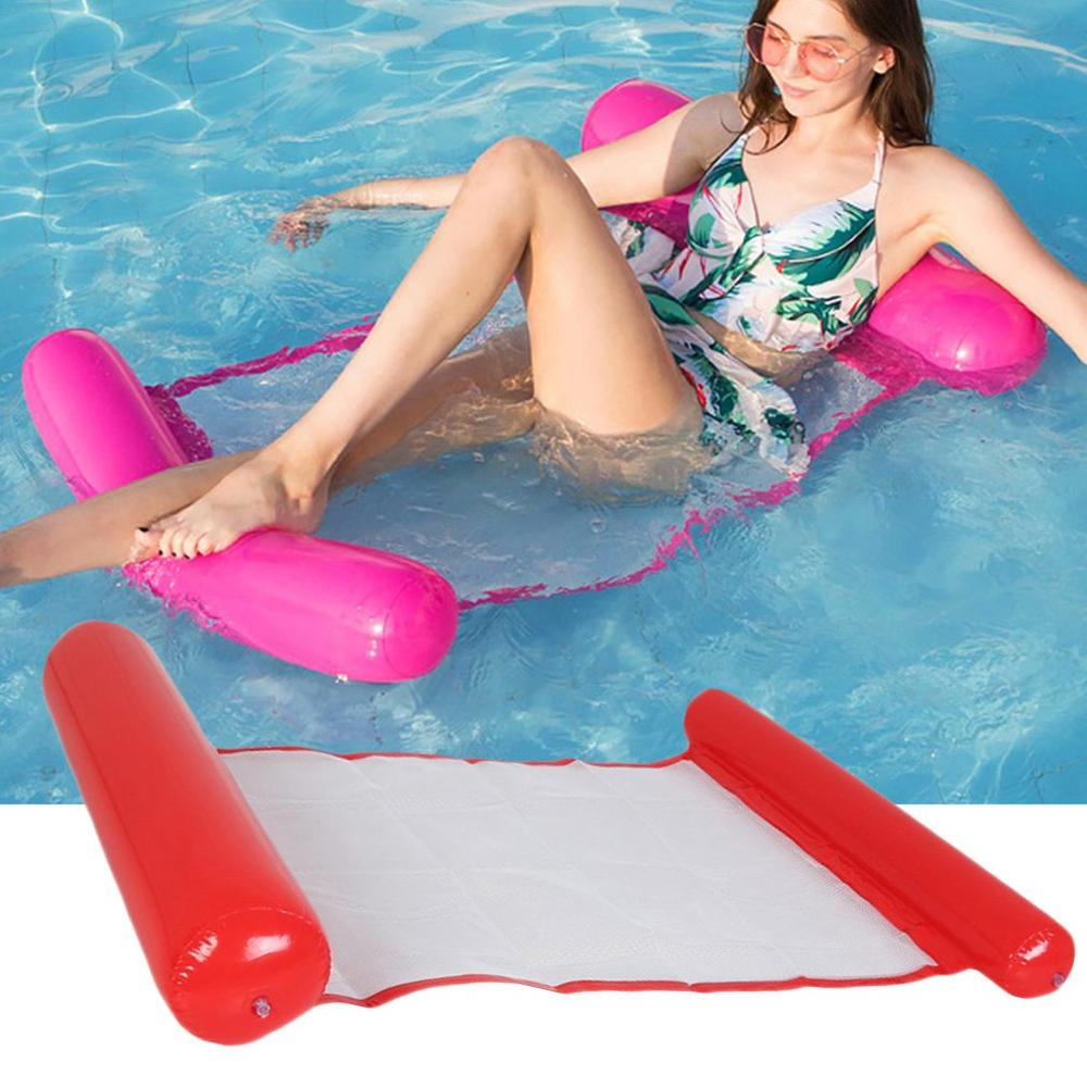 New Summer Inflatable Floating Row Pool Air Mattresses Beach Foldable Swimming Pool Chair Hammock Water Sports Piscina 130*80CM