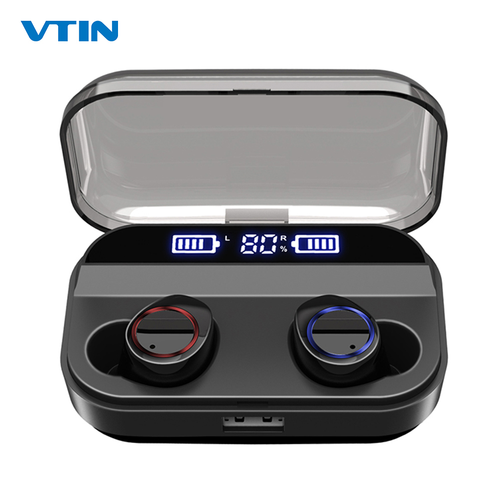 VTIN TWS Wirelress Earphones Bluetooth 5 0 Earphone With 4000mAh Charging Case IPX7 Waterproof Earbuds For Xiaomi iOS Smartphone in Bluetooth Earphones Headphones from Consumer Electronics