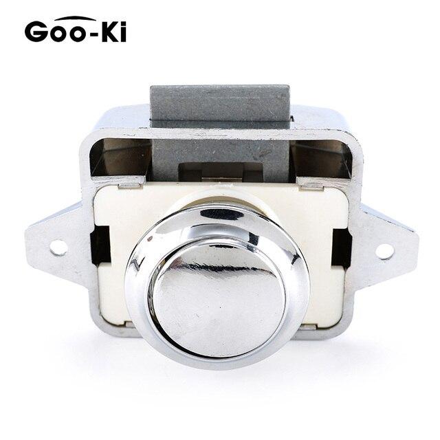 Goo-Ki Camper Car Push Lock Diameter 26mm RV Caravan Boat Motor Home Cabinet Drawer Latch Button Locks For Furniture Hardware