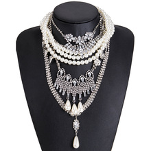 Lukeni 2019 Chains Necklaces Claw Chain Pearl Baroque Geometric Party Women Brand Designer Noble Luxury Statement Boho Necklace