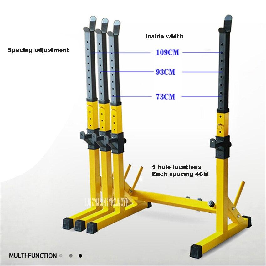 Une-Pièce Barbell Squat Rack Support En Acier Rack D'haltères Haltérophilie Hauteur Réglable Haltères Cadre Intérieur Équipement De Conditionnement Physique - 4