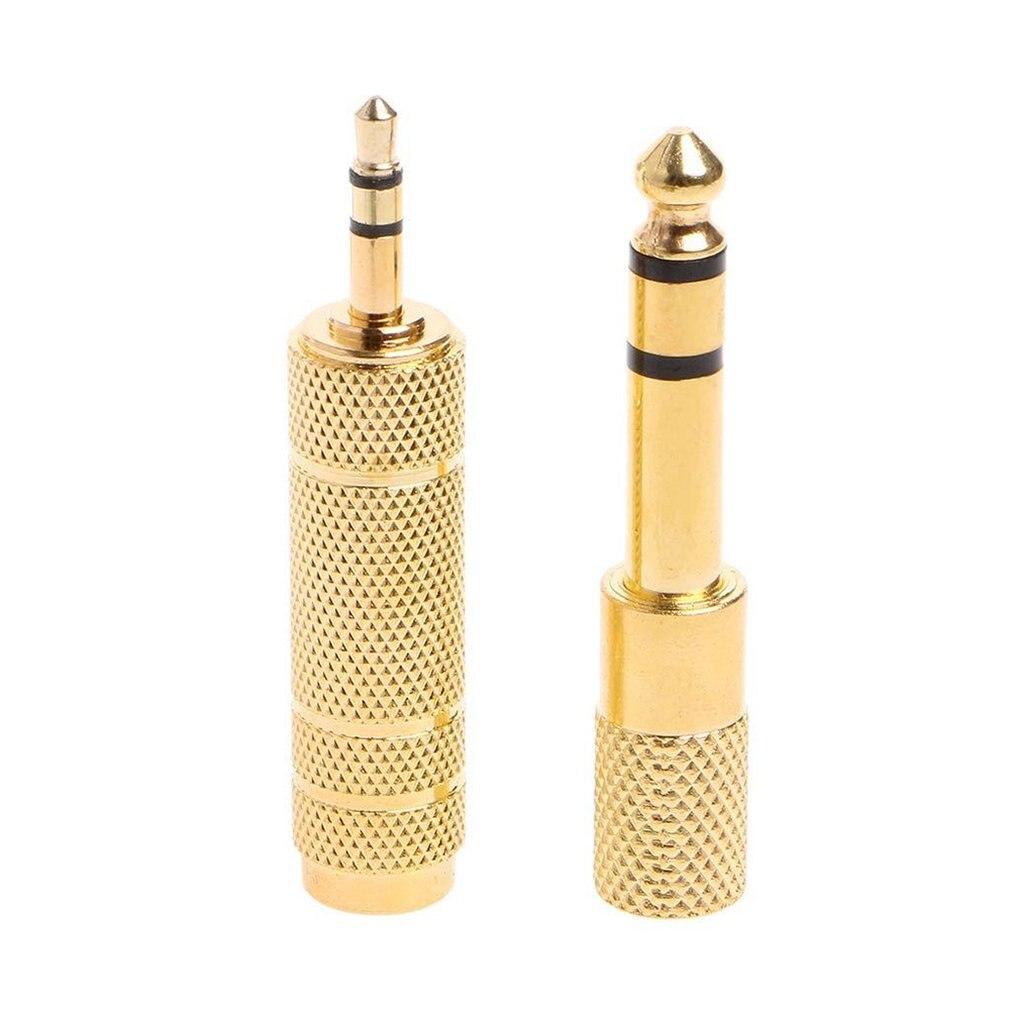 Mayitr 2 шт. 6,35 мм Jack обоих концах для подключения к стереосистеме золото 6,5 мм 1/4 \