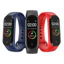 Reloj m4 nova banda inteligente de alta qualidade do esporte pressão arterial monitor freqüência cardíaca à prova dwaterproof água fitness relógio inteligente 2020
