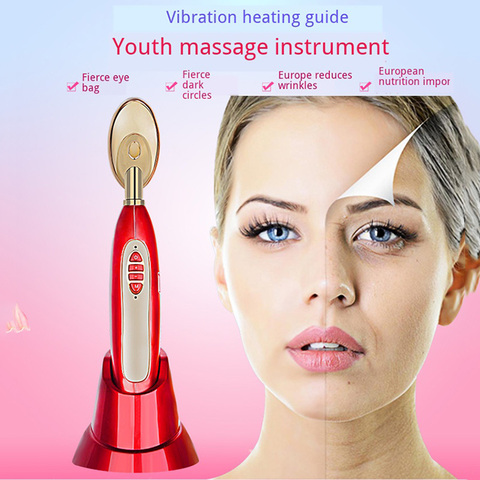 Vibraiton aquecimento importa o massageador para rosto remover sacos de olho e c rculo escuro