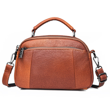 Fashion Wild Shoulder Bag Pu Leather Small Square Casual Lady Retro Simple Soft Daily Needs Messenger