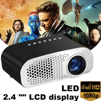 GP802A LED Mini Projector Full HD 1080P USB TF AV Media Player Home Cinema LCD Home Theater Portable Double HDMI Port