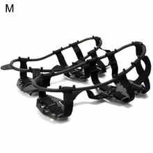 1 Pair 24tooth Manganese Steel Crampons Anti-Skid Shoe Cover Snow Claw Shoes Nail Hiking Fishing Nails Mud Ice Caught