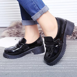 Image 3 - Japanese Student Shoes College Girl Shoes JK Commuter Uniform Shoes PU Leather Cospaly Shoes