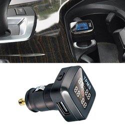 Uniwersalny samochód TPMS w czasie rzeczywistym System monitorowania ciśnienia w oponach zapalniczki LCD cyfrowy wyświetlacz alarm bezpieczeństwa systemu w Systemy monitorowania ciśnienia w oponach od Samochody i motocykle na