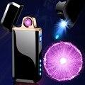 2020 спиннинг зарядка поворот дуги Зажигалка USB электрическая Зажигалка Ветрозащитная электронная плазменная Зажигалка фонарик мужской под...