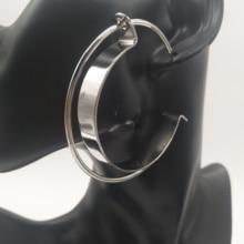 HipHop Big Hoop Earrings Alloy Copper Stainless Steel Loop Earrings For Women Wholesale Round Circle Hoop Earrings Punk Jewelry цена 2017