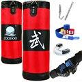 100cm entraînement Fitness MMA boxe sac de frappe Sport sac de sable Muay Thai ensemble d'entraînement gants de boxe & enveloppement & dents garde & crochet|Punching-balls et sacs de frappe|Sports et Loisirs -