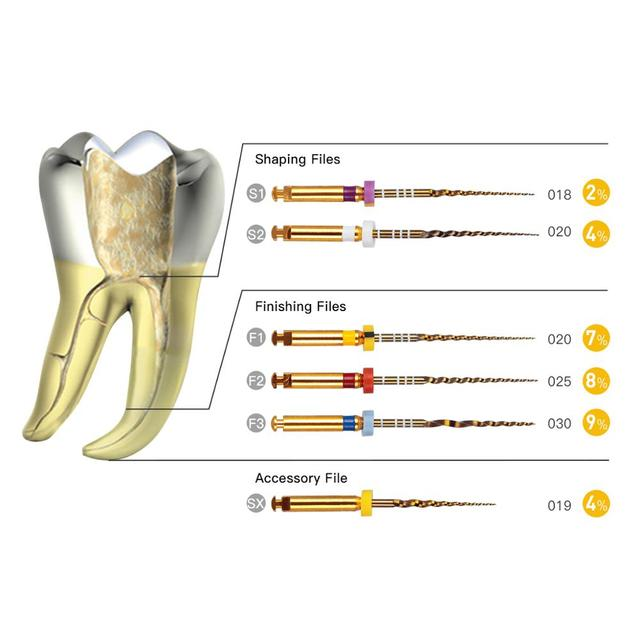 Dental Endo Root Files Root Canal Universeral Engine Use Rotary Files Endondontic Root Canal NITI Dentist Tool Instrument