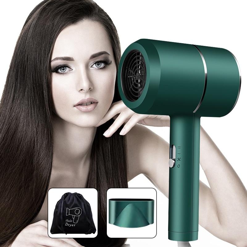 נייד שיער מייבש ביתי חימום וקירור אוויר מכשירי חשמל מתח גבוה כחול אור אניון שיער טיפול Professinal מהיר יבש