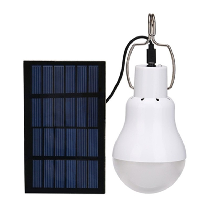 LED Solar Power Camping Light Portable 15W Outdoor Energy Saving Bulb Night Light For Home Camping Fishing Courtyard Emergency