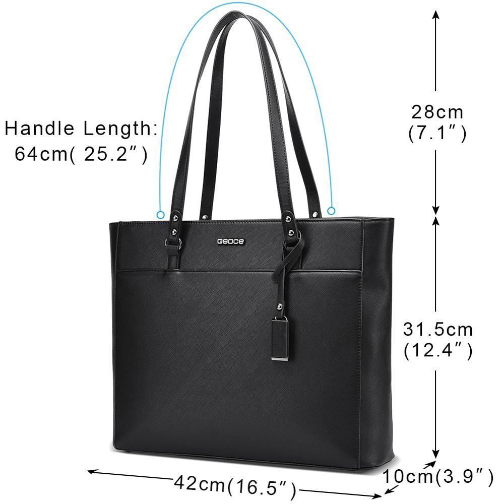 Image 2 - OSOCE laptop bag for women 15.6  briefcase  Waterproof Handbag  Laptop Tote Case luxury Shoulder Bag Office Bags for  notebookBriefcases