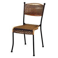 M8 كرسي واحد الروطان المنزل في الهواء الطلق شرفة في الهواء الطلق الباحة طاولة ومقاعد كرسي صغير كرسي مسند الظهر