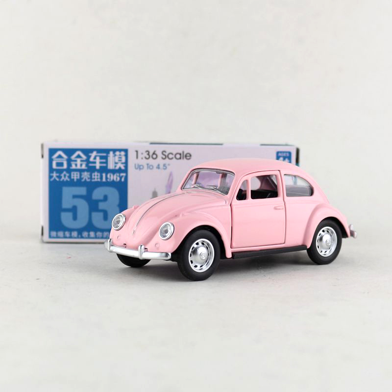 1:36 Scale Volkswagen 1967 Beetle Alloy Pull-back Car Diecast Metal Model Car For Collection Friend Children Gift