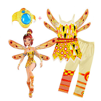 Kids Halloween Costumes Girls Mia And Me Clothing Set Mia Cosplay Costume Children Birthday Party Carnival Clothes For Girl halloween savage aboriginal cosplay children carnival party girls clothes african primitive savage cosplay costume