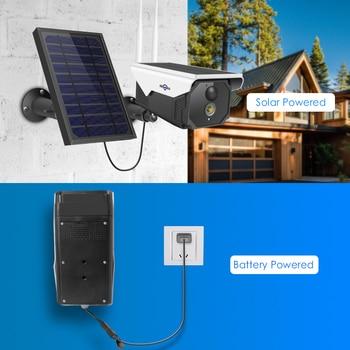 Hiseeu 1080P WIFI Battery Camera IP 2MP Outdoor Rechargeable Wireless IP Camera PIR Detect Waterproof Solar Panel 2
