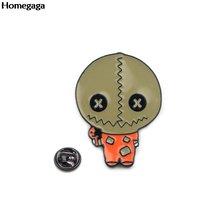 Homegaga фокус или лечение Хэллоуина цинковый сплав галстук