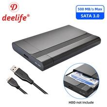 Deelife 2.5 Inch SATA Sang USB 3.0 Hộp Ổ Cứng Cho Laptop Hộp Đựng Ổ Cứng SSD Ngoài HD Ốp Lưng