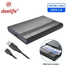 Deelife 2.5 inç SATA USB 3.0 adaptörü HDD muhafaza Laptop için sabit Disk sürücü kutusu SSD harici HD kılıf
