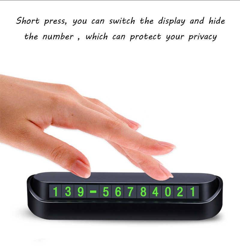 자동차 임시 주차 카드 전화 번호 카드 플레이트 전화 번호 주차장 중지 자동차 액세서리 자동차 스타일링 13x2.5cm