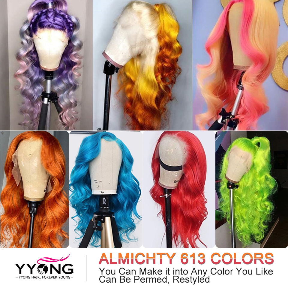 Yyong 613 Blond T Part Lace Wigs  Blond  Body Wave Lace Part  Wigs Natural Hairline With Baby Hair 120% 5