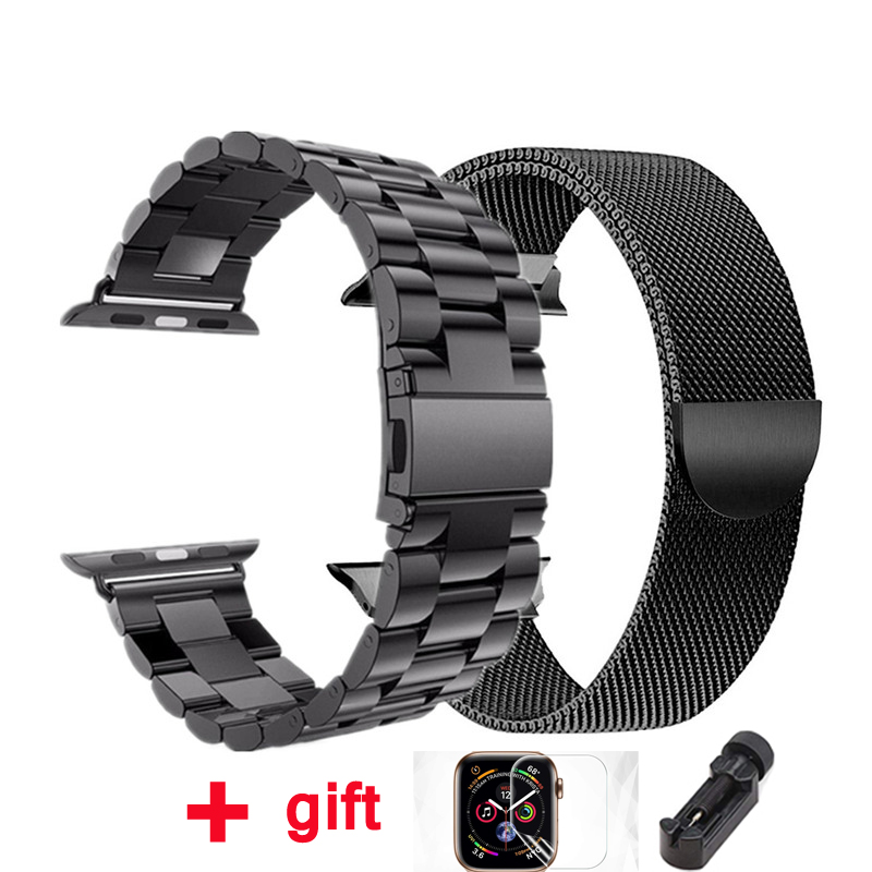 Milanese Loop Strap For Apple Watch Band 4 3 42mm 38mm IWatch Band 44 Mm 40mm Stainless Steel Bracelet Apple Watch Accessories