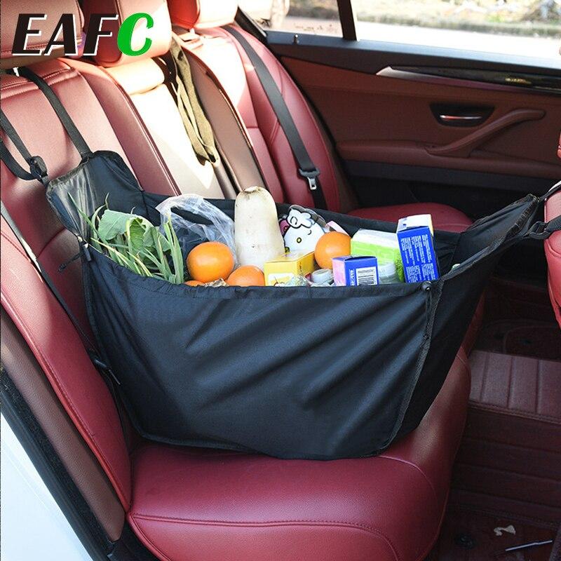 Almacenaje para asiento trasero de coche Universal, cesta, bolsa organizadora de la compra, almacenamiento, almacenamiento, accesorios interiores para viajes, capacidad de Camping