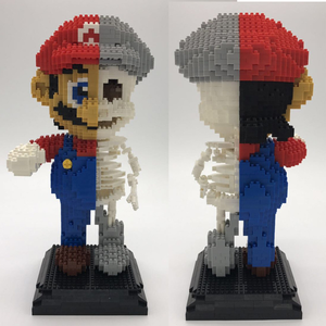 Image 2 - 1686Pcs Game Super Marios Mary Bros Brothers Mini Blocks DIY Building Blocks Diamonds Toys 7807 Compatible With Bela Kids Toy