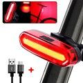 120 люмен светодиодный задний фонарь для велосипеда USB Перезаряжаемый мощный фонасветильник для велосипеда Аксессуары для велосипеда