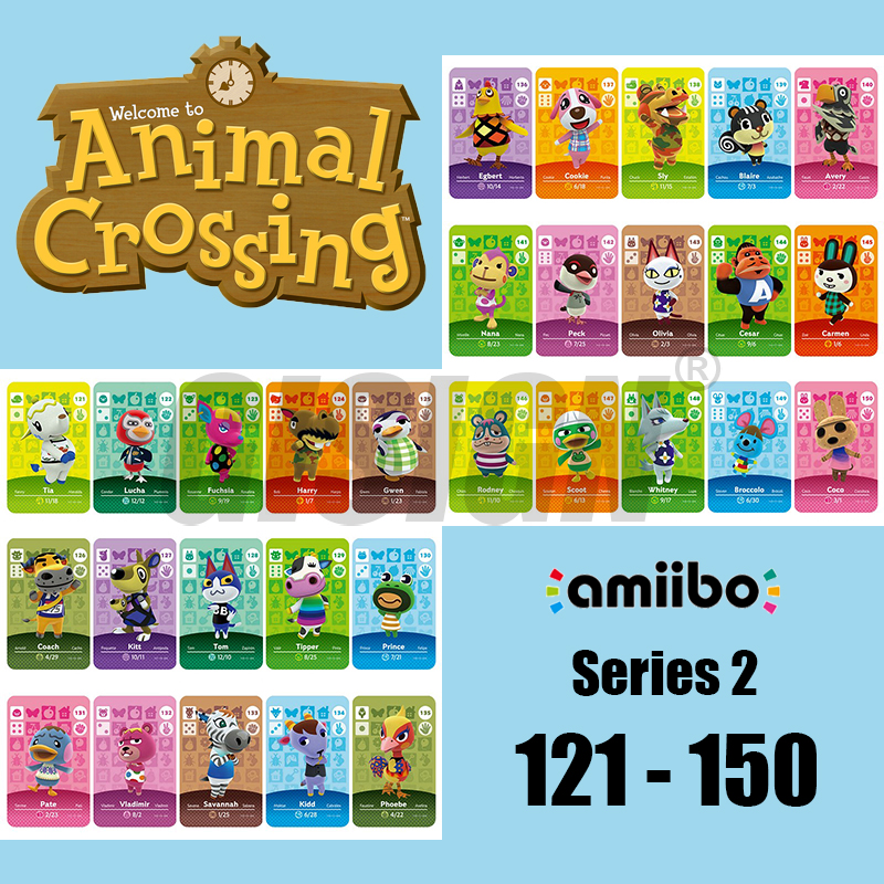 New Horizons Amiibo Animal Crossing Card For NS Switch 3DS Game Marshal Card Set NFC Cards Series 2 (121-150) COCO