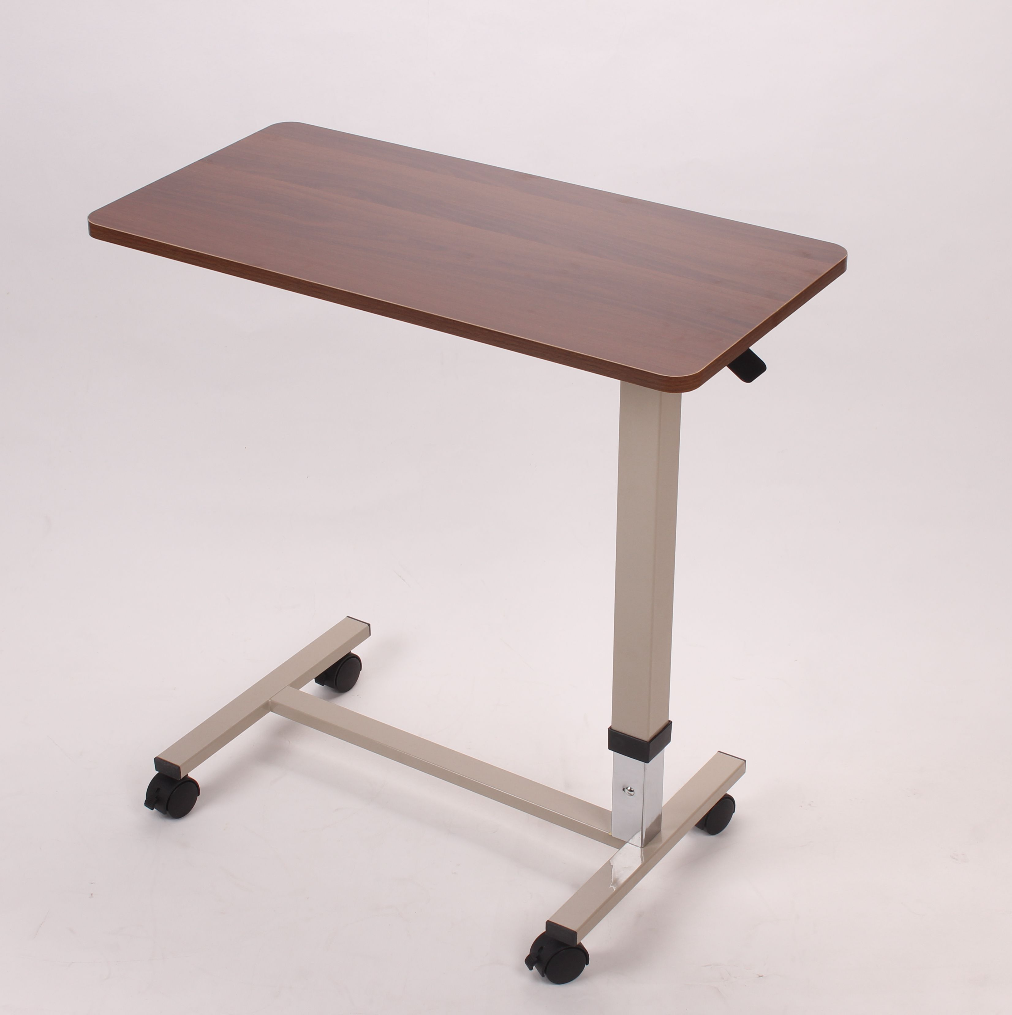 New Thickened Steel Nursing Bed Dining Table Sickbed Mobile Dining Board Can Lift Bedside Computer Table Rehabilitation Table