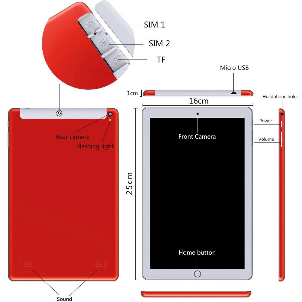 כיריים שניי להבות ANRY טבליות אנדרואיד 10 אינץ שיחות טלפון 4G אוקטה Core 4 GB + 64 GB Tablet 10.1 מחשב עם מקלדת מגע כפול SIM Card WiFi Bluetooth (3)