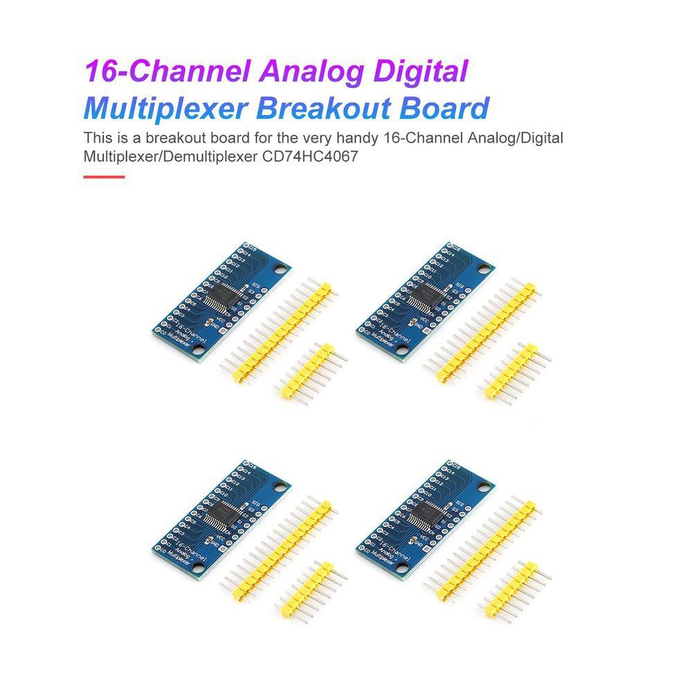 4Pcs High Speed 16CH Analog Digital Multiplexer Breakout Board Module CD74HC4067 CMOS Precise Module For Arduino