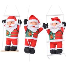 60CM New High-quality Climbing Rope Ladder Swing Santa Claus Christmas Decorations Outdoor Doll Pendant Gifts