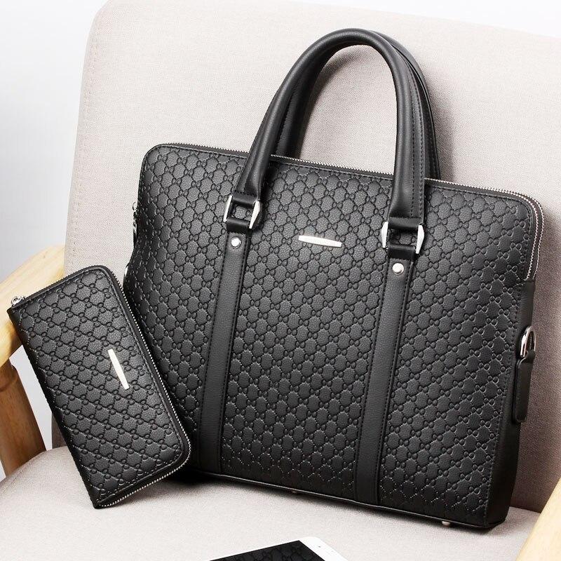 Men's Business Briefcase Double Layers Handbag Hot Sale Male Shoulder Cross Body Bag Laptop Bag Travel Bag For Man