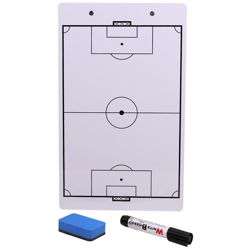 ПВХ двухсторонняя футбольная тактическая доска для инструктора по футболу, принадлежности для отправки ручки для отправки доски
