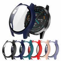 La mate protector de la caja de reloj para el Huawei Watch GT 2 42mm/46mm/2e 46mm PC + cubierta de vidrio delgada Anti-arañazos y alta calidad de parachoques