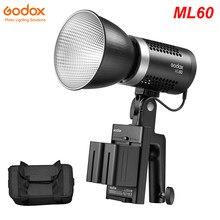 Godox – lampe vidéo LED Portable, Mode silencieux, 60W, lumière du jour, 0.77Kg, 5600K, CRI 96, TLCI 97, double puissance