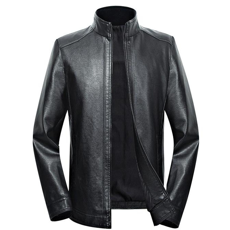 Plus Size Men Genuine Leather Jacket 5XL 6XL 7XL 2020 Spring And Autumn Zipper Male Sheepskin Leather Jacket Father Outwear P07