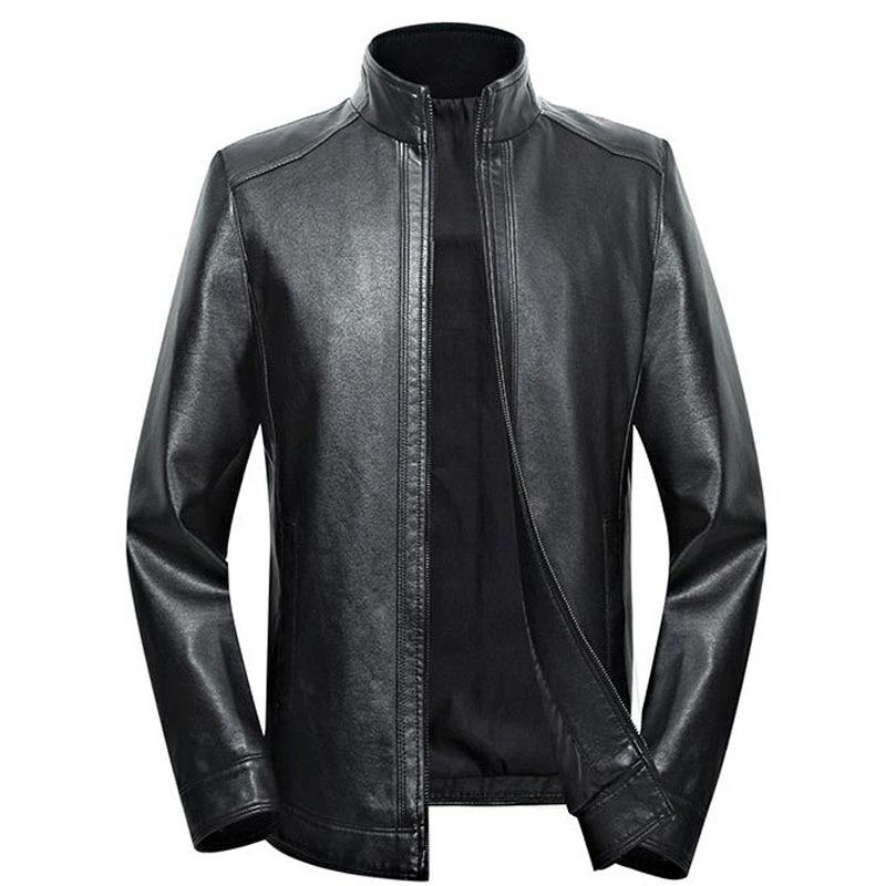 Plus Size Men Genuine Leather Jacket 5XL 6XL 7XL 2020 Spring And Autumn Zipper Male Sheepskin Leather Jacket Father Outwear P07