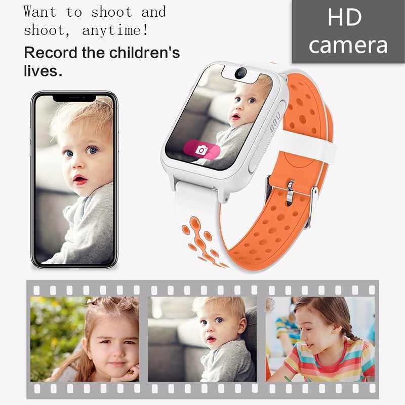 Enfants montre intelligente GPS smartwatch bébé montre pour enfants SOS appel localisateur localisateur traqueur Anti perte moniteur enfants cadeau