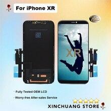 מקורי באיכות LCD עבור iPhone XR מסך תצוגת החלפה עם 3D מגע אמיתי טון עם כלים לא מת פיקסל