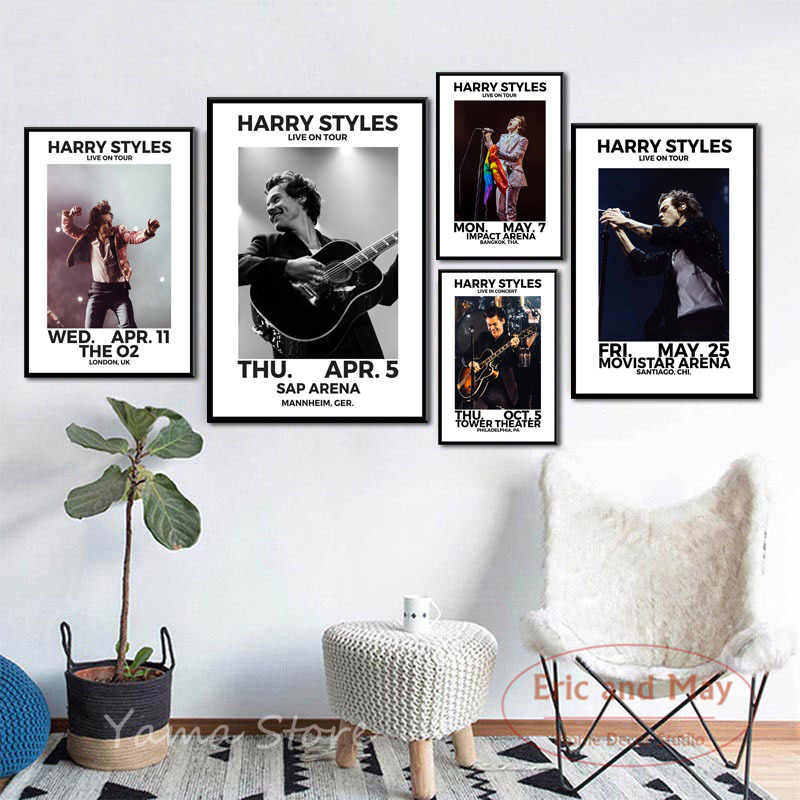 Posters En Prints Harry Stijlen World Tour Live Zanger Canvas Schilderij Wall Art Foto Muziek Decoratieve Home Decor Plakat