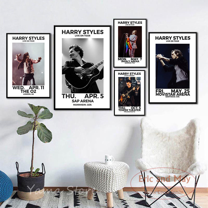 Posters And Prints Harry Styles World Tour Live Singer Canvas Painting Wall Art Picture Music Decorative Home Decor Plakat